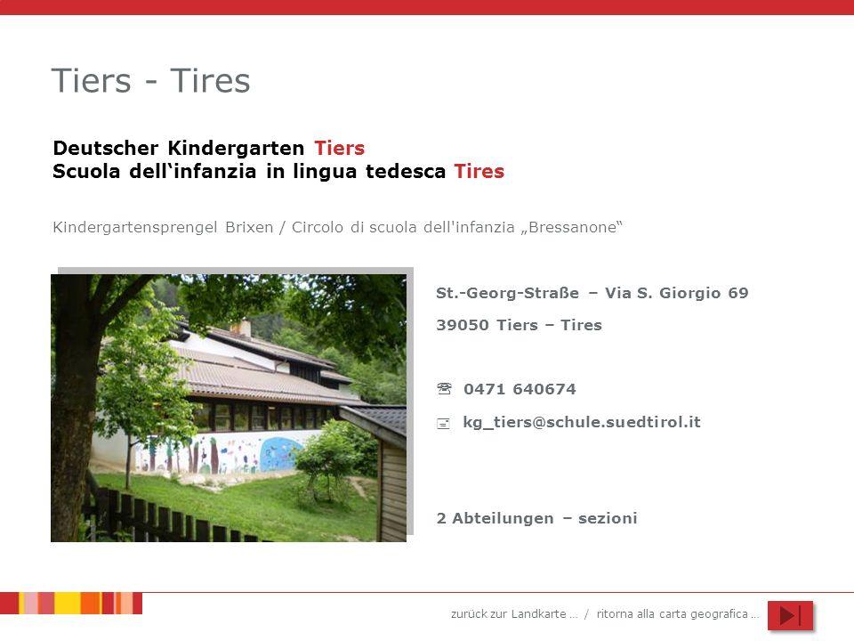 Tiers - Tires Deutscher Kindergarten Tiers Scuola dell'infanzia in lingua tedesca Tires.
