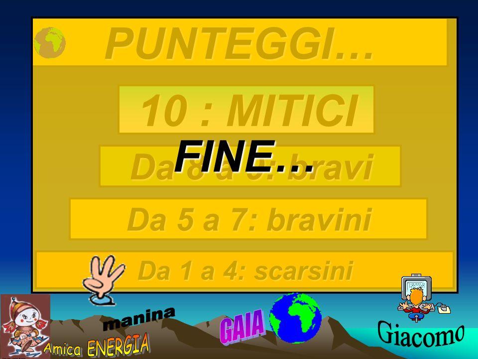 FINE… PUNTEGGI… 10 : MITICI