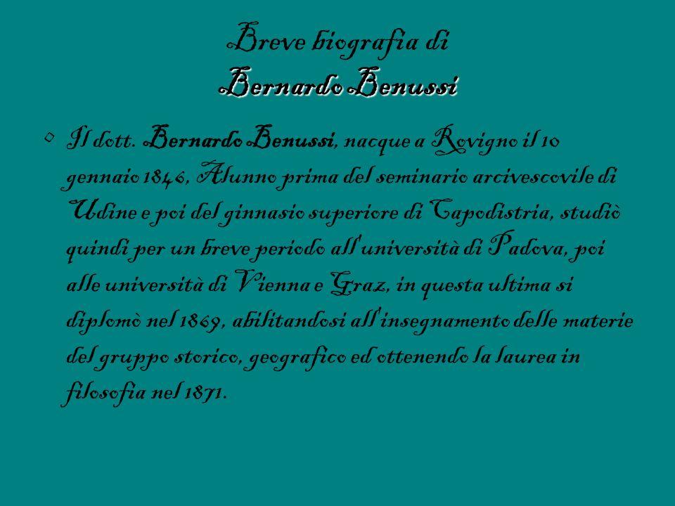 Breve biografia di Bernardo Benussi