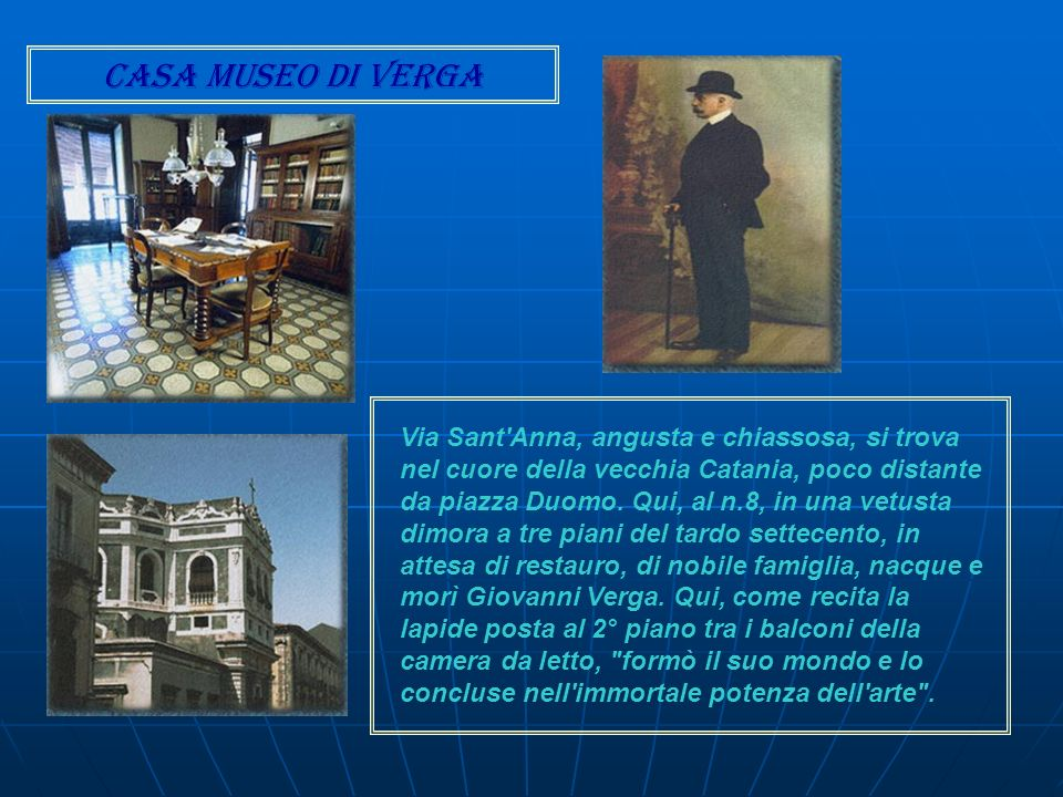 Casa museo di Verga