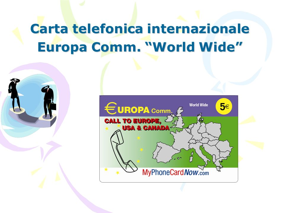 Carta telefonica internazionale Europa Comm. World Wide