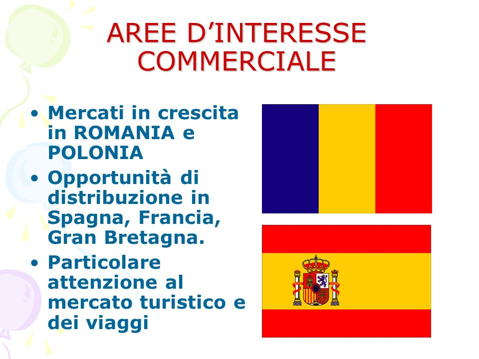 AREE D'INTERESSE COMMERCIALE