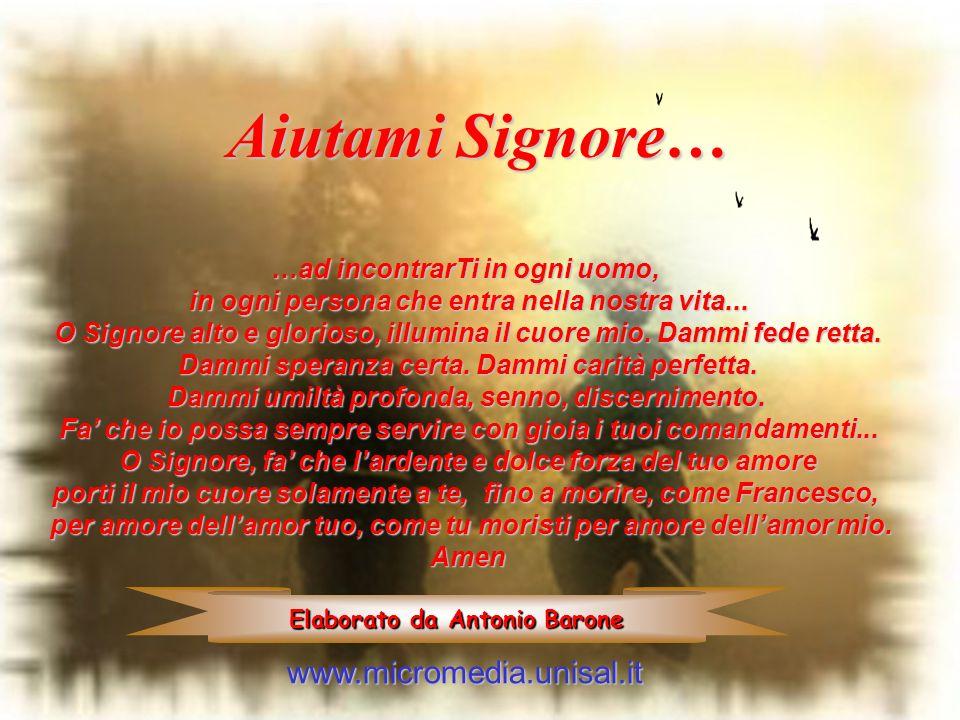 Aiutami Signore… www.micromedia.unisal.it