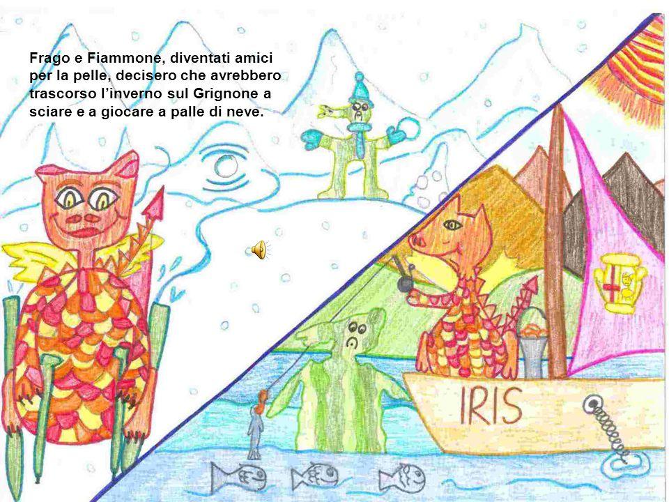 Frago e Fiammone, diventati amici per la pelle, decisero che avrebbero trascorso l'inverno sul Grignone a sciare e a giocare a palle di neve.