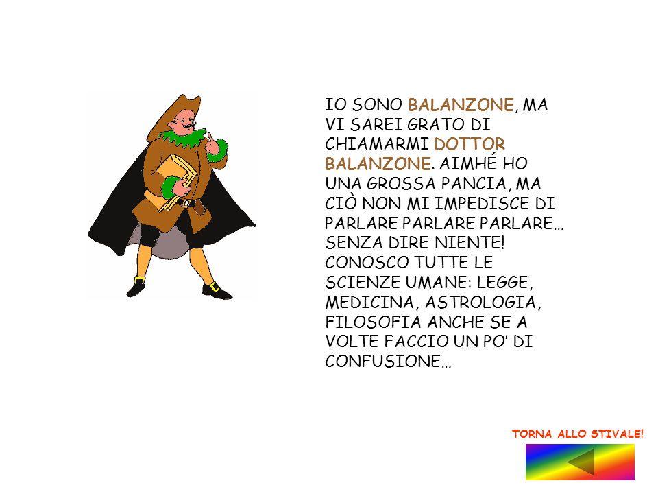 IO SONO BALANZONE, MA VI SAREI GRATO DI CHIAMARMI DOTTOR BALANZONE