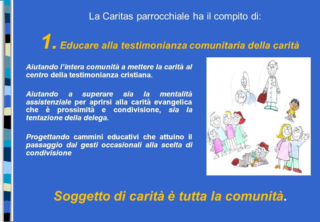Caritas parrocchiale: compiti