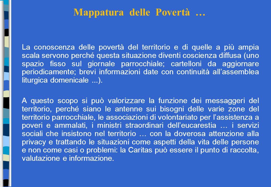 Mappatura delle Povertà …