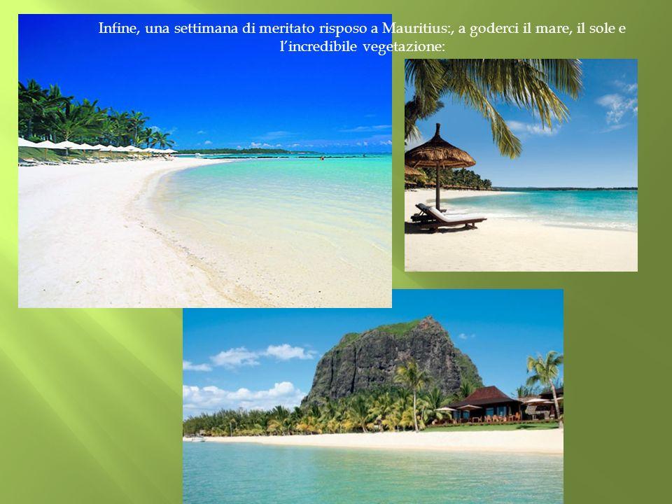 Infine, una settimana di meritato risposo a Mauritius:, a goderci il mare, il sole e l'incredibile vegetazione: