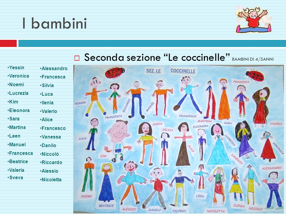 I bambini Seconda sezione Le coccinelle BAMBINI DI 4/5ANNI
