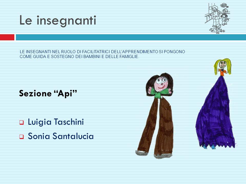 Le insegnanti Sezione Api Luigia Taschini Sonia Santalucia