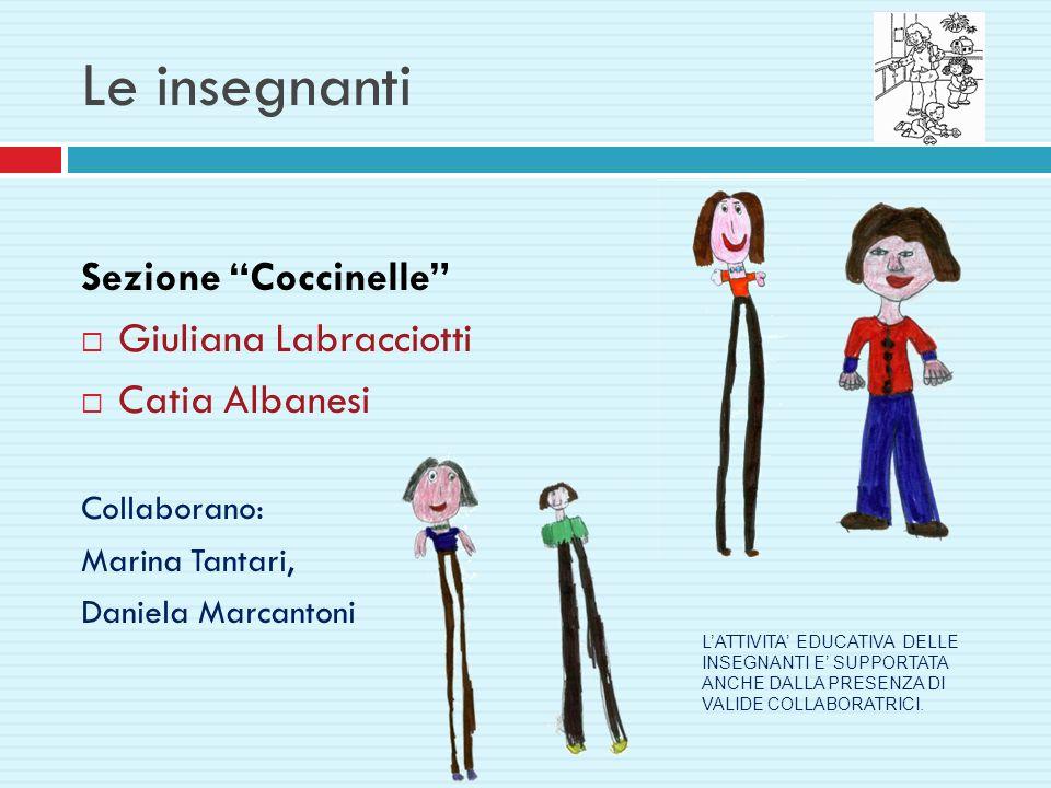 Le insegnanti Sezione Coccinelle Giuliana Labracciotti