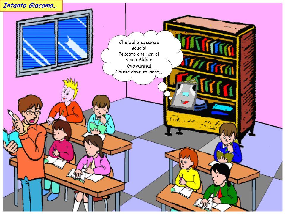 Intanto Giacomo… Che bello essere a scuola!