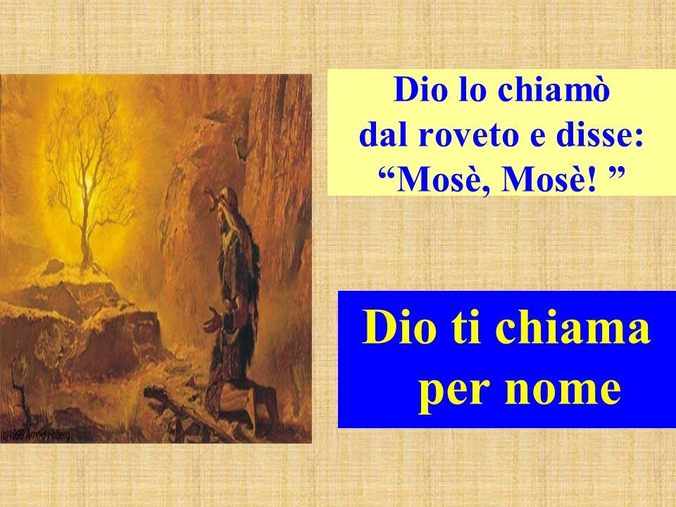 Dio lo chiamò dal roveto e disse: Mosè, Mosè!