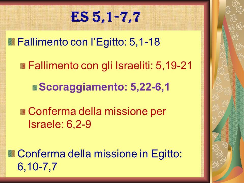 Es 5,1-7,7 Fallimento con l'Egitto: 5,1-18
