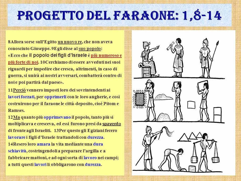 Progetto del faraone: 1,8-14