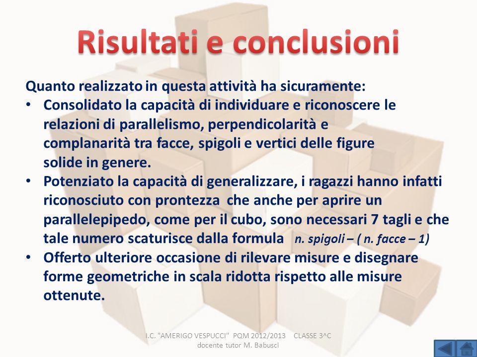 Risultati e conclusioni