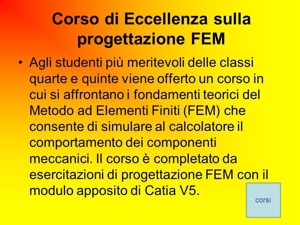 Corso di Eccellenza sulla progettazione FEM
