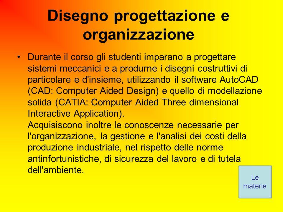 Disegno progettazione e organizzazione