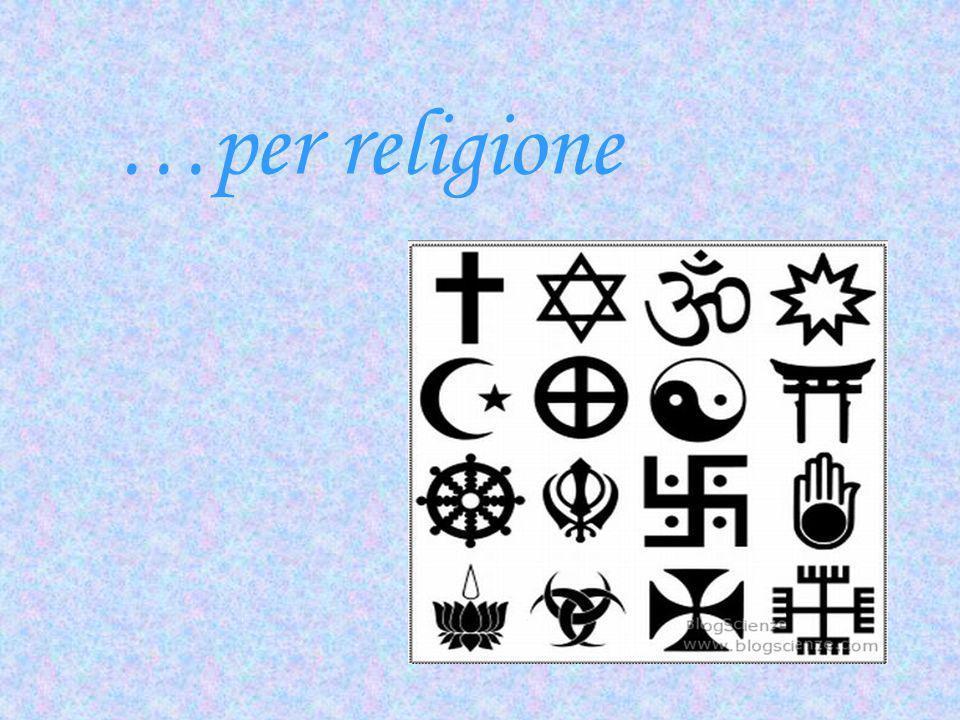 …per religione