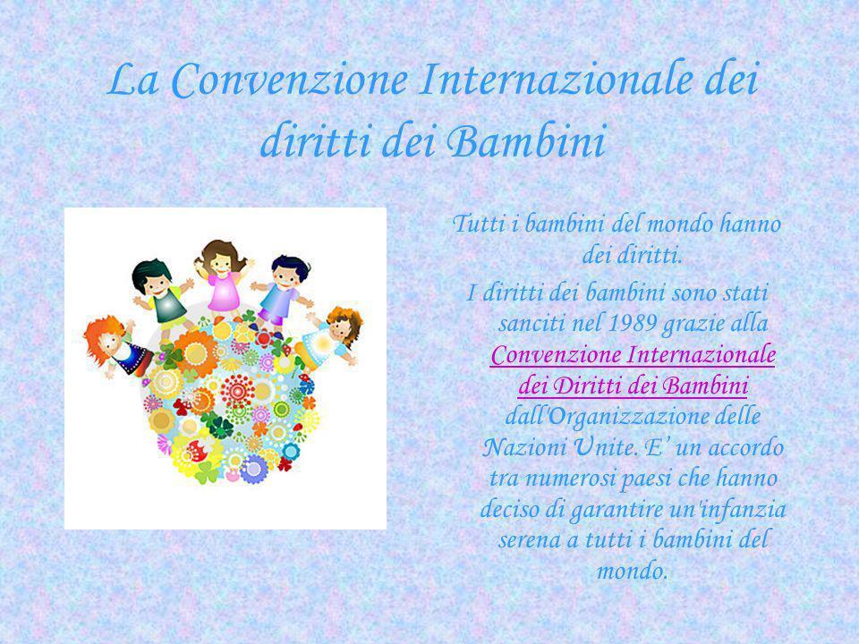 La Convenzione Internazionale dei diritti dei Bambini