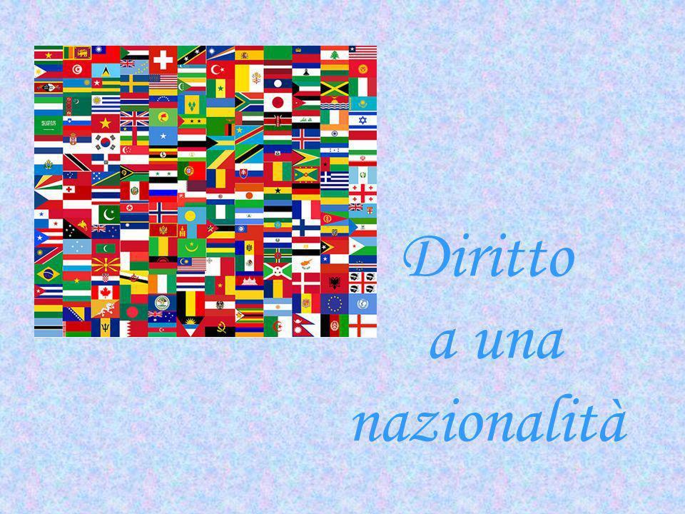 Diritto a una nazionalità