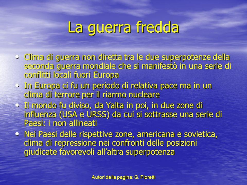 Autori della pagina: G. Fioretti