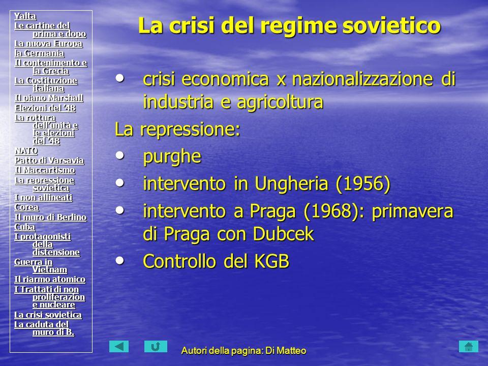 La crisi del regime sovietico