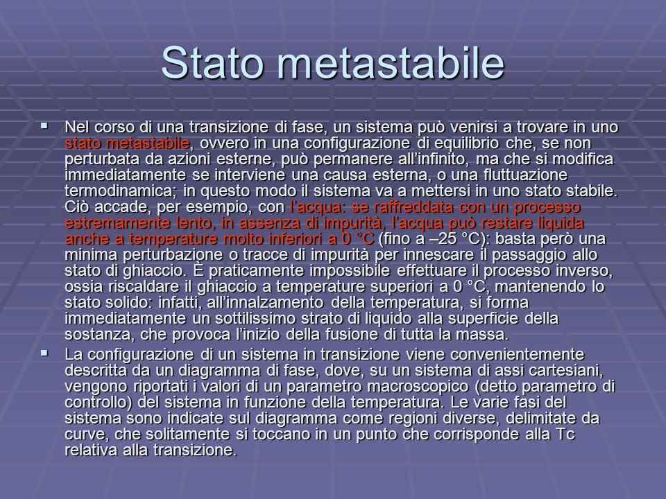 Stato metastabile