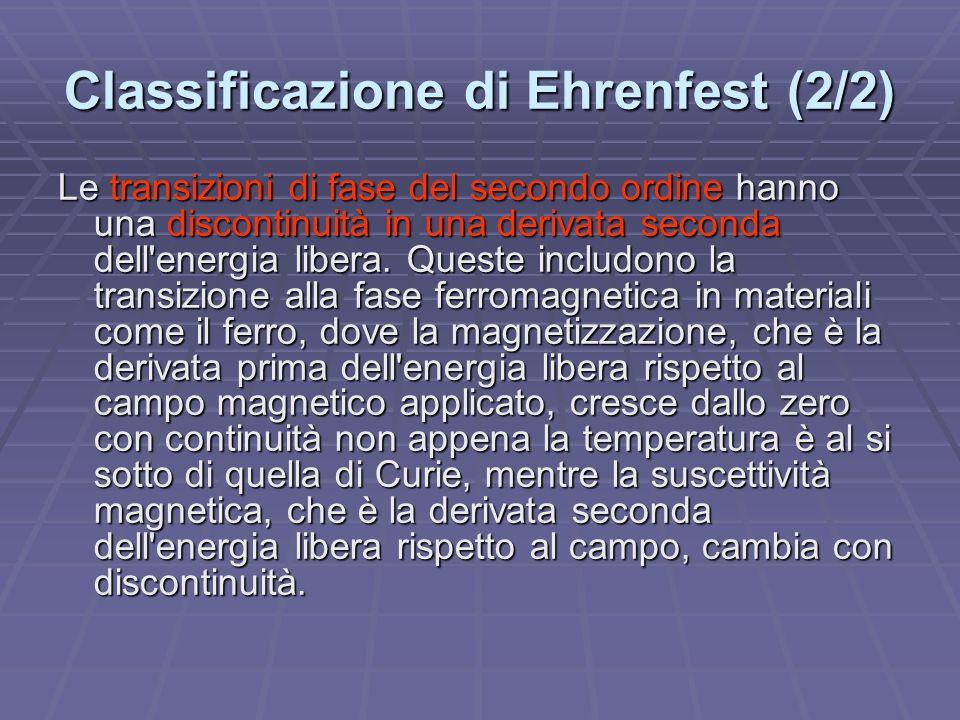 Classificazione di Ehrenfest (2/2)