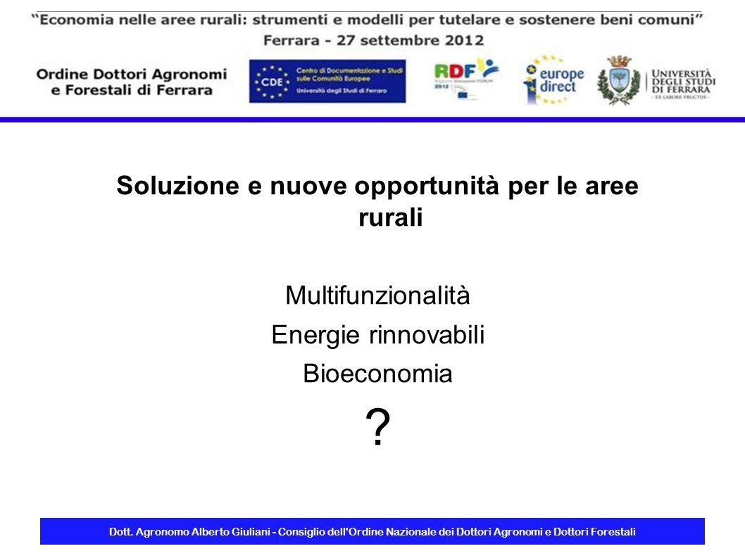 Soluzione e nuove opportunità per le aree rurali