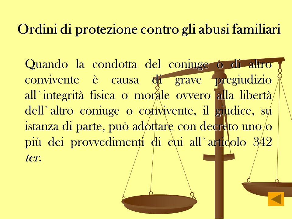 Ordini di protezione contro gli abusi familiari