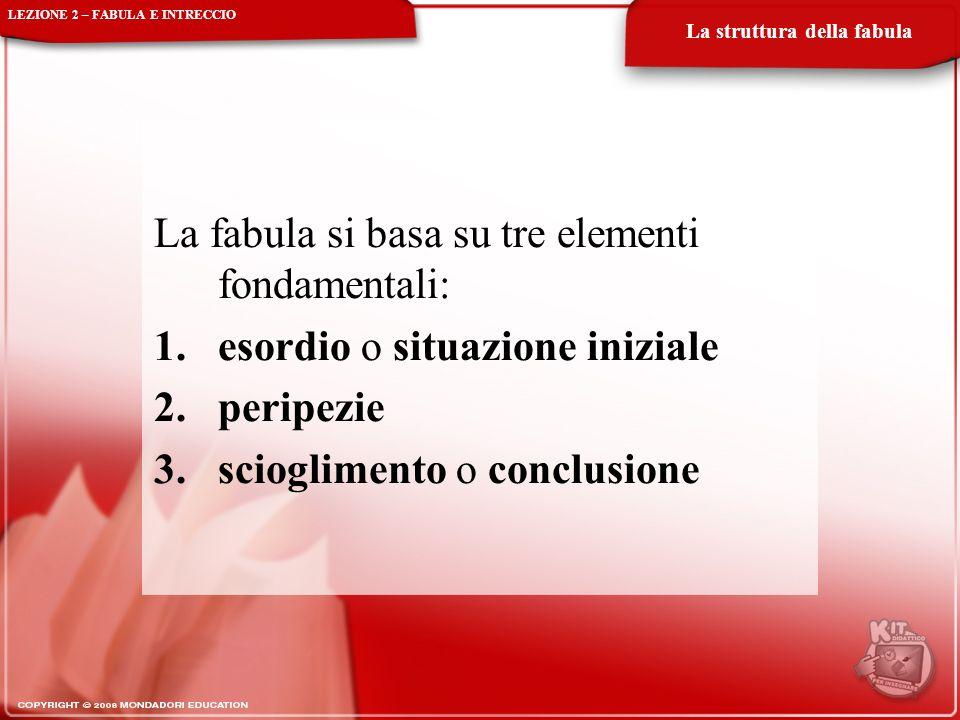 La fabula si basa su tre elementi fondamentali: