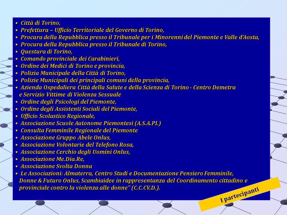 I partecipanti Città di Torino,
