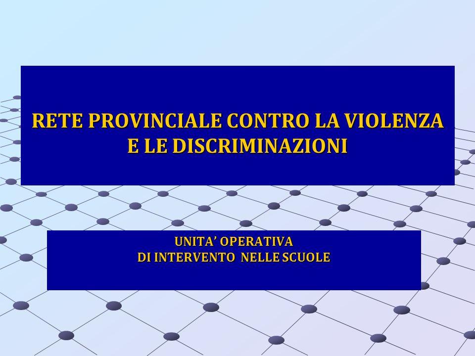RETE PROVINCIALE CONTRO LA VIOLENZA E LE DISCRIMINAZIONI