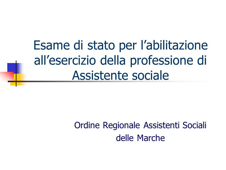 Ordine Regionale Assistenti Sociali delle Marche