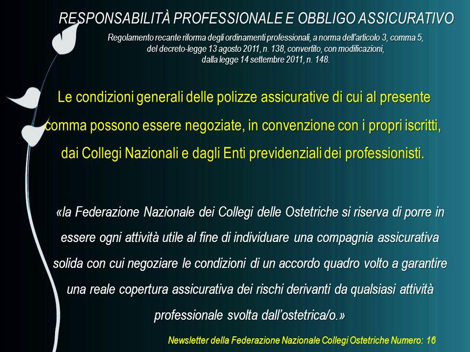 RESPONSABILITÀ PROFESSIONALE E OBBLIGO ASSICURATIVO