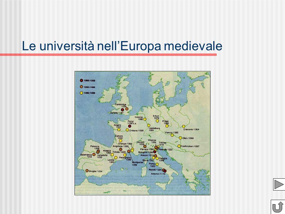Le università nell'Europa medievale
