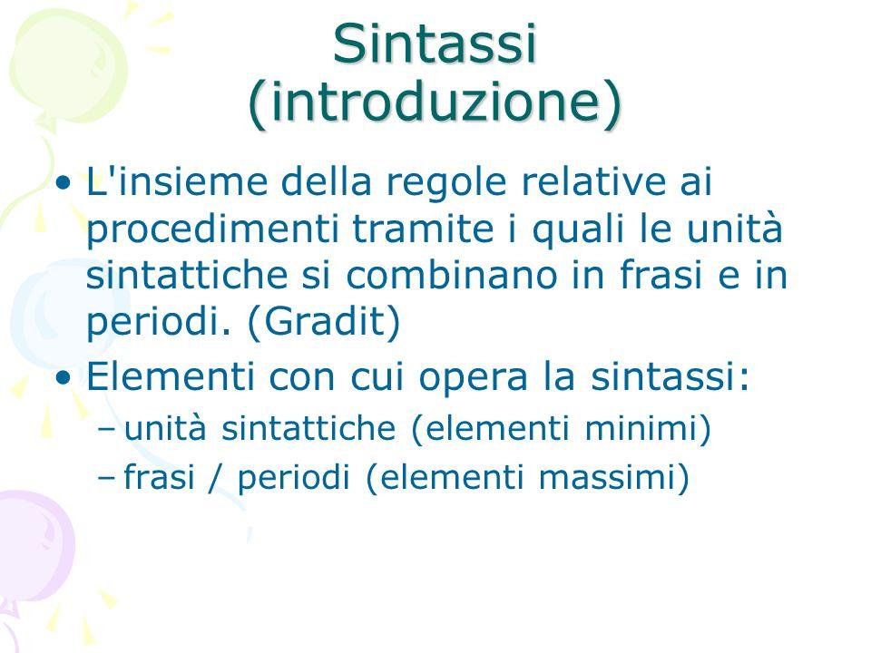 Sintassi (introduzione)