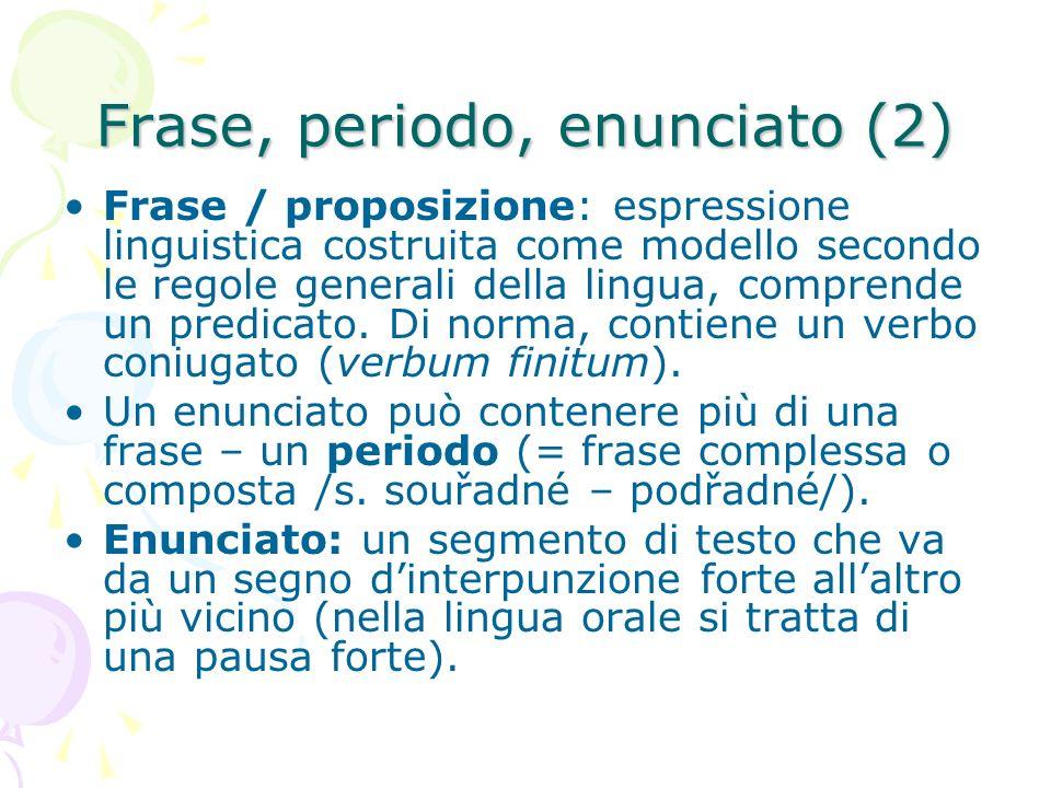 Frase, periodo, enunciato (2)