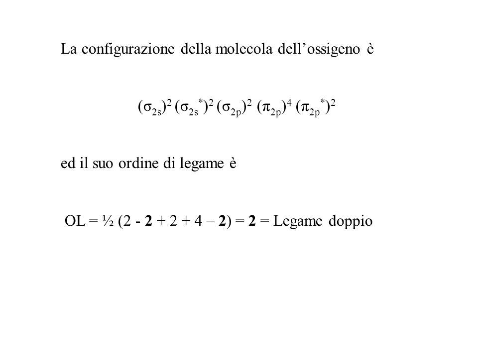 (σ2s)2 (σ2s*)2 (σ2p)2 (π2p)4 (π2p*)2
