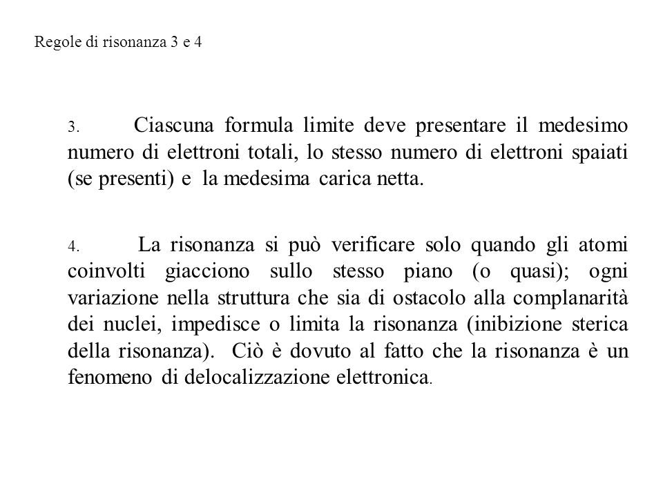 Regole di risonanza 3 e 4