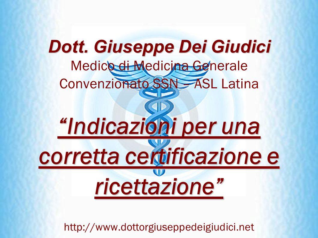 Indicazioni per una corretta certificazione e ricettazione