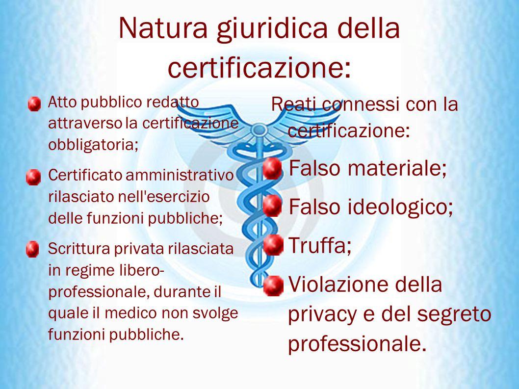 Natura giuridica della certificazione: