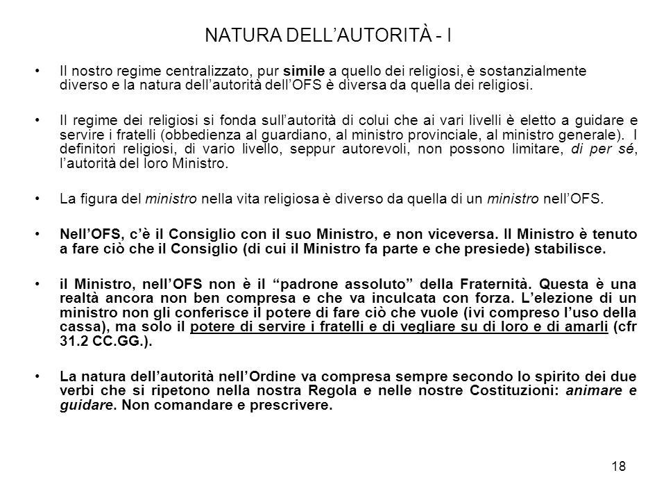 NATURA DELL'AUTORITÀ - I