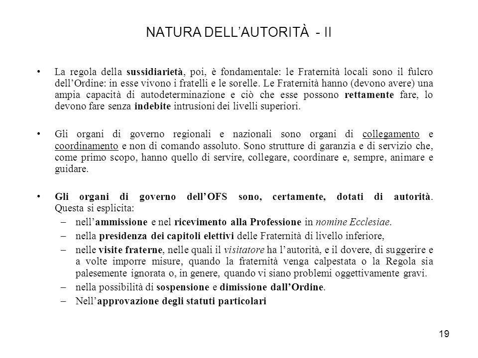 NATURA DELL'AUTORITÀ - II