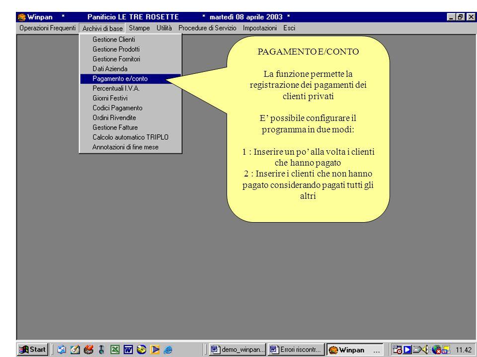 E' possibile configurare il programma in due modi:
