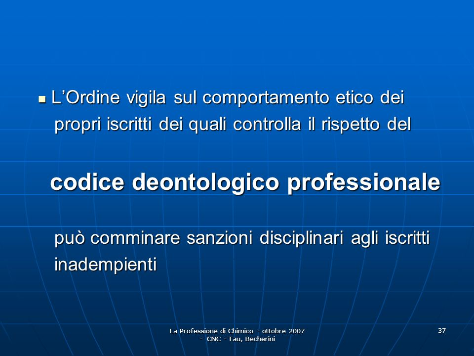 codice deontologico professionale