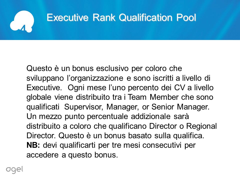 4 Executive Rank Qualification Pool