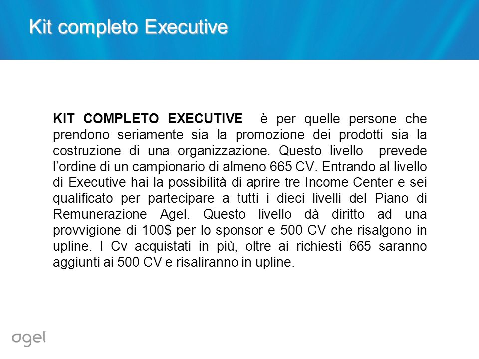 Kit completo Executive