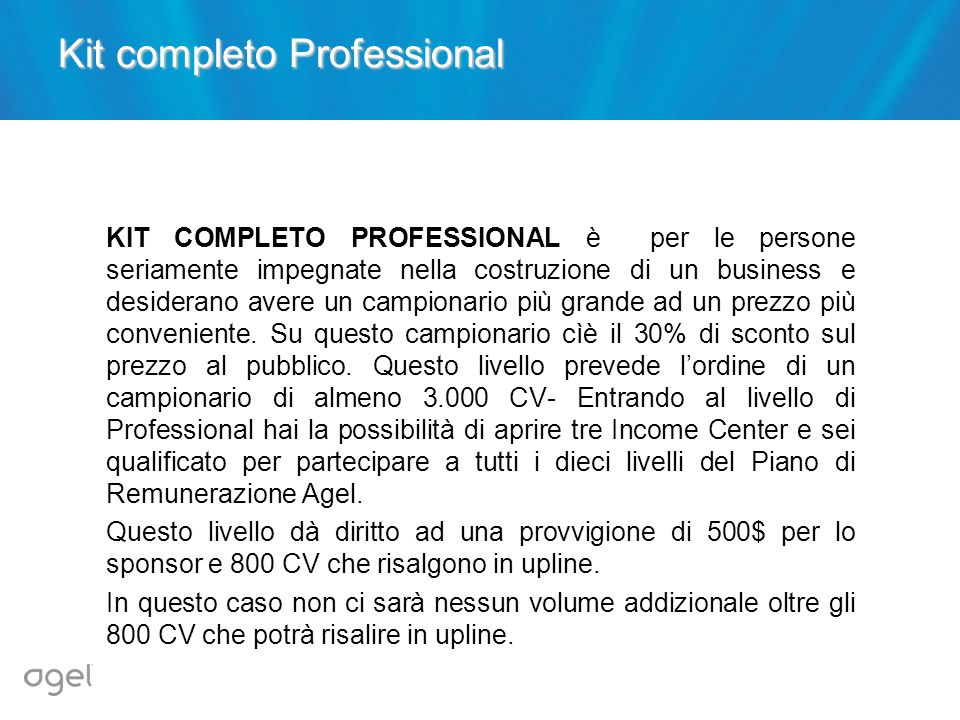 Kit completo Professional